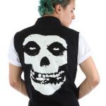 pánske vesty Iron Fist - Misfits Fiend Skull - Black - IFMJKT12942S14