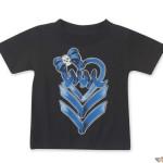 detské tričká Metal  Mulisha - RIBBON DANCER - BLK