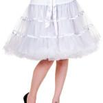dámske sukne Banned - Petticoat Ribbon - White - SBN221WHT