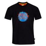 pánske tričká Zajo Bormio T-shirt Black