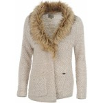 firetrap fur collar knitted cardigan ladies ecru lurex 150x150 Soul Cal Lined Cardigan