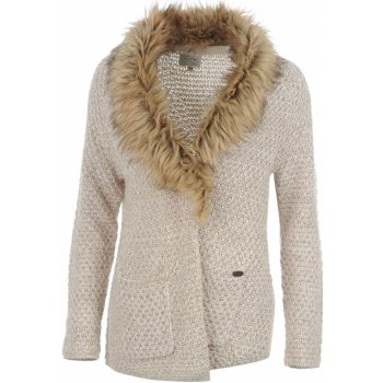 296183c4226a Dámsky elegantný sveter Firetrap Fur Collar Knitted Cardigan ...