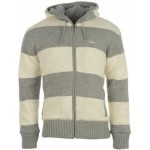 pánske svetre Lee Cooper - Striped Knit Cardigan Mens