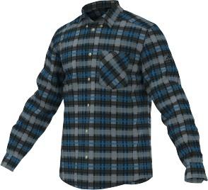 29e207390008 Pánska športová košeľa Adidas Hiking Flannel LS Shirt F95247 ...