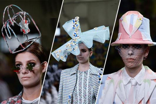 haute couture klobúky 530x353 Trendy v módě klobouků a čepic